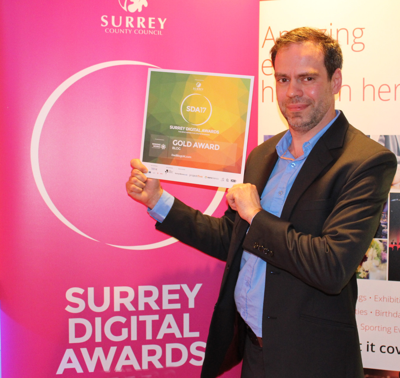 Gold Award Winner, Surrey Digital Awards!