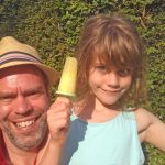 Cooling the kids down with a homemade fresh fruit, ice lolly