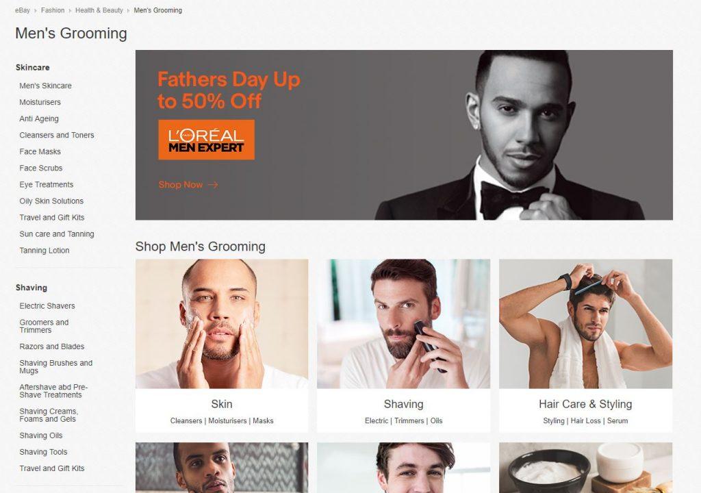 ebay, men's grooming,