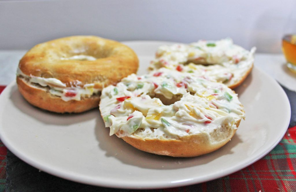 Iceland, Iceland plain bagels, cream cheese and pepper babgels, cream cheese and fresh pepper bagels