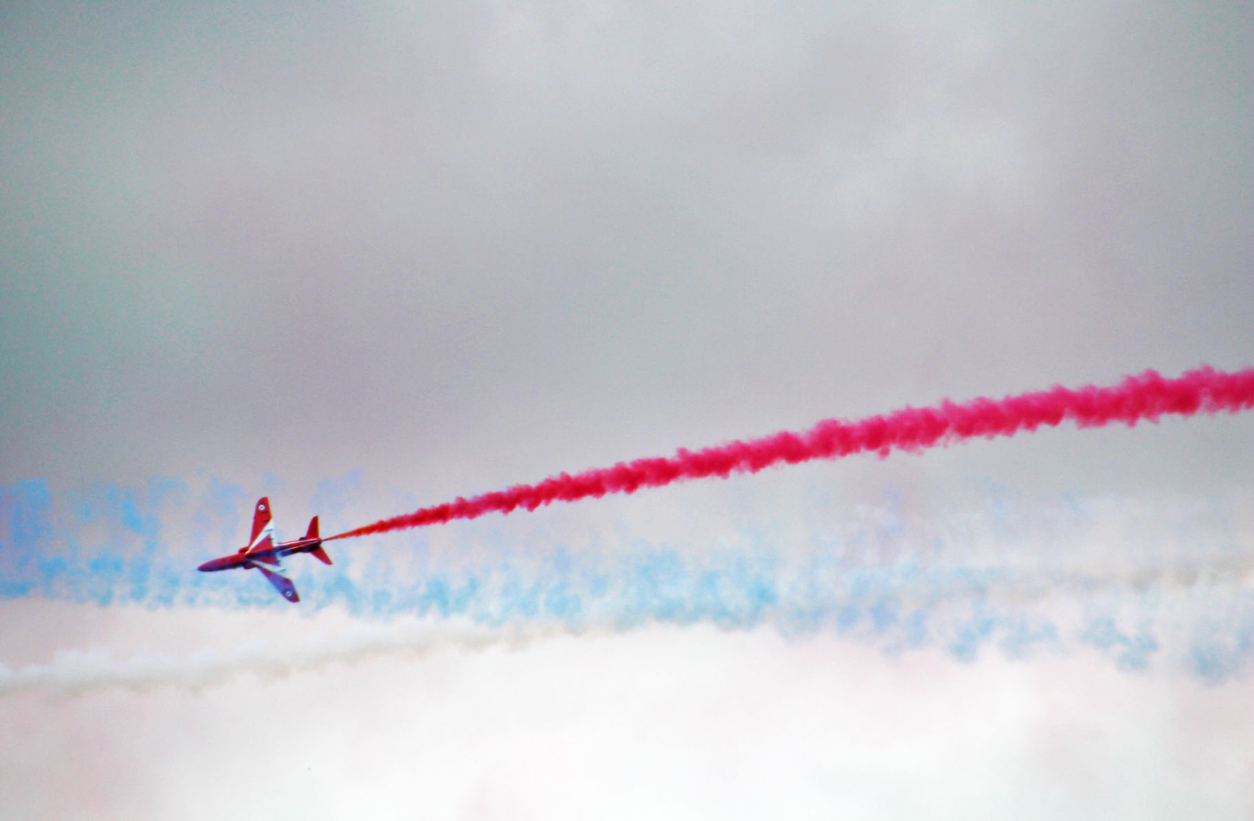 An impressive display from the Red Arrows