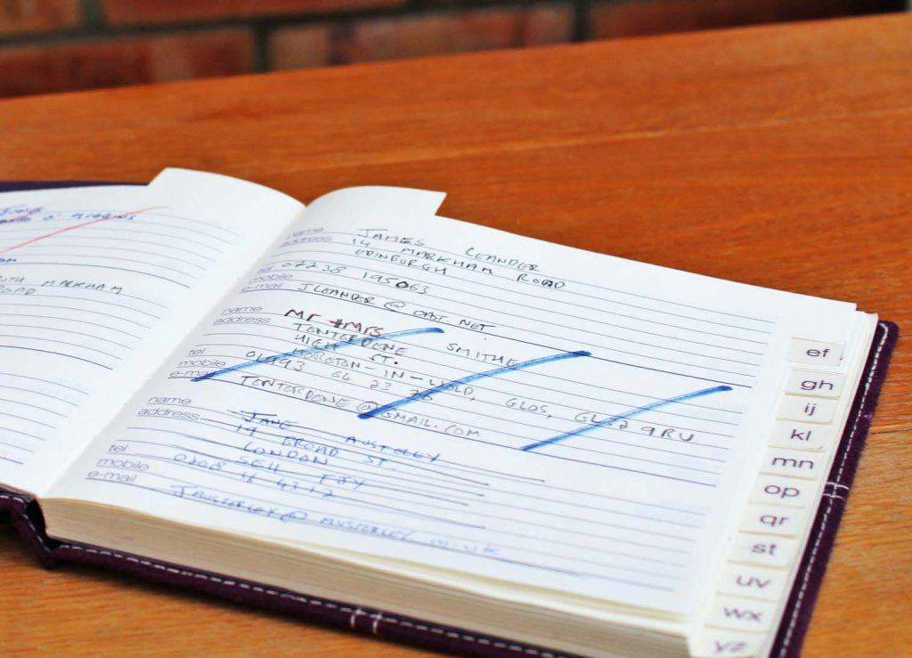 address book, friendships, friendship, another one bites the dust, dad blog uk, dadbloguk.com, school run dad