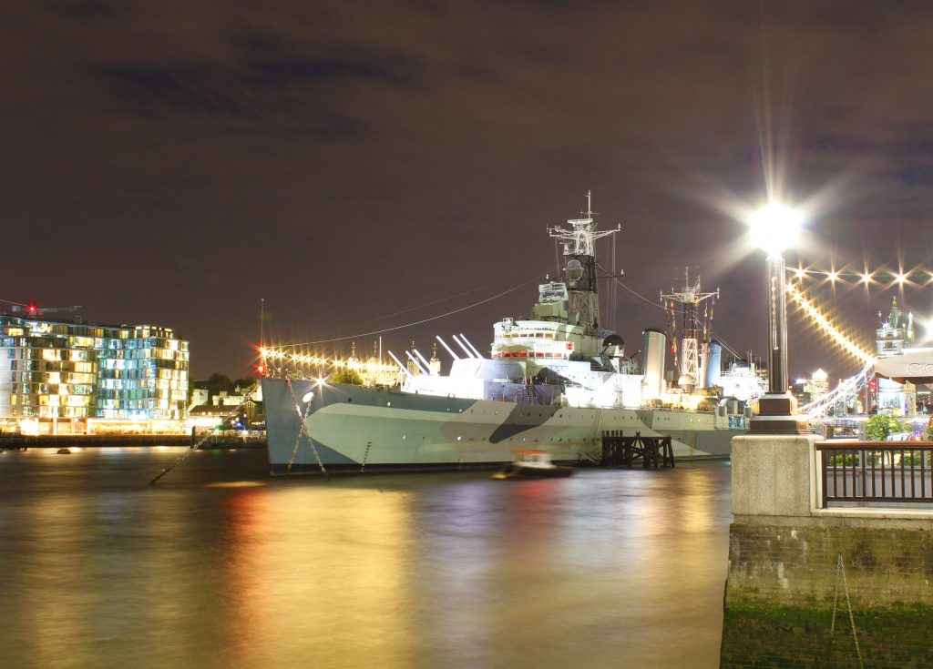 HMS Belfast, HMS Belfast at night, river Thames, River Thames at night, long exposure photograph, dadbloguk, dadbloguk.com, dadbloguk, school run dad, Photalife, #MySundayPhoto