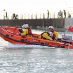 RNLI boat launch caught on camera