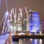 London's South Bank at night
