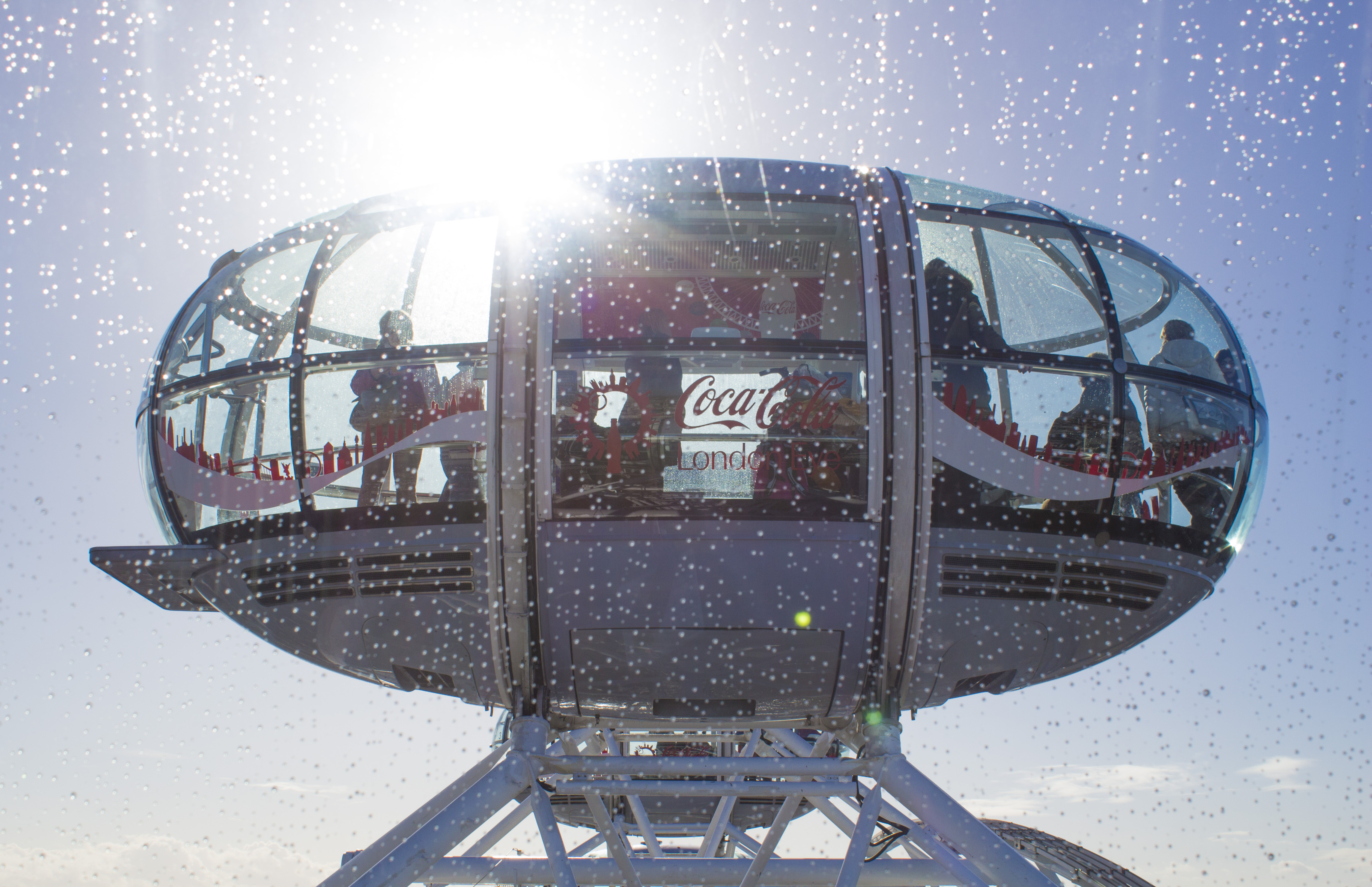 Travelling aboard the Coca-Cola London Eye