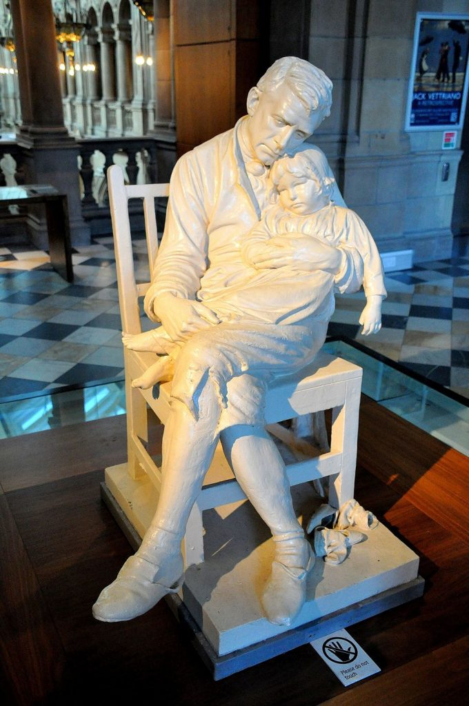 Motherless statue, Motherless by George Anderson Lawson, GA Lawson, Kelvingrove, #srd, school run dd