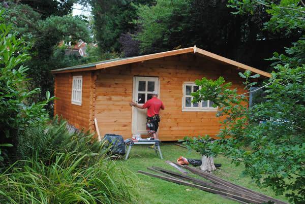 Garden Co, log cabin kits, garden office, home working