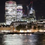 London's Square Mile at night