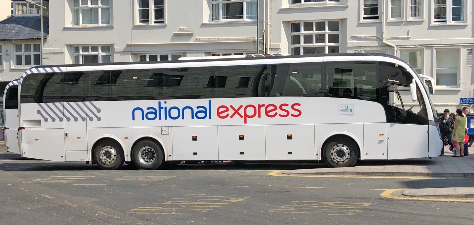 Reunited with my old friend, the National Express coach