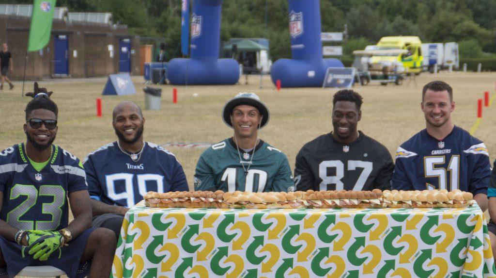 Subway, NFL, NFL Flag, Summer Bowl finale, NFL Flag presented by Subway, Neiko Thorpe, dadbloguk,dadbloguk.com, dad blog uk, school run dad, active children, sport for children