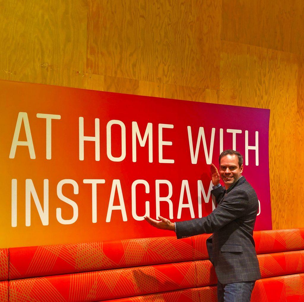 John Adams of Dadbloguk posing in front of Instagram banner.