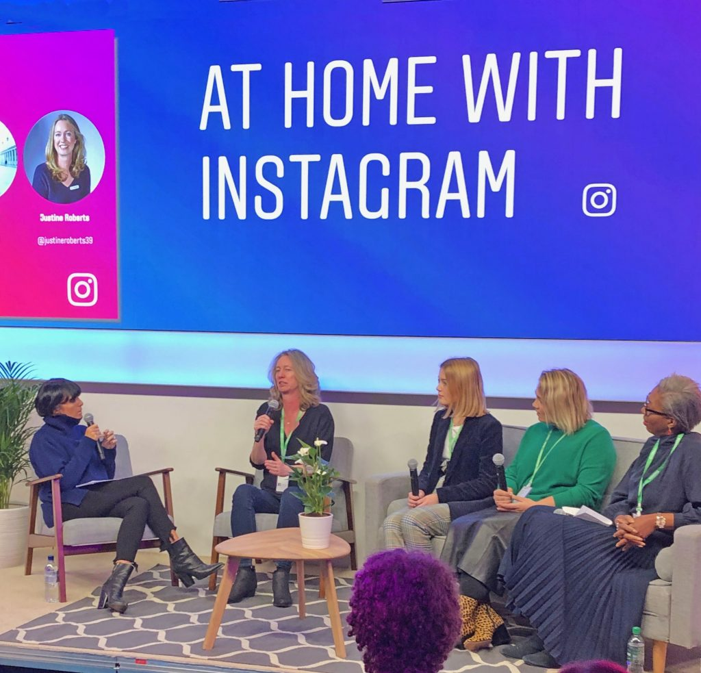 Panel discussion taking place at Instagram's #timewellspent event.