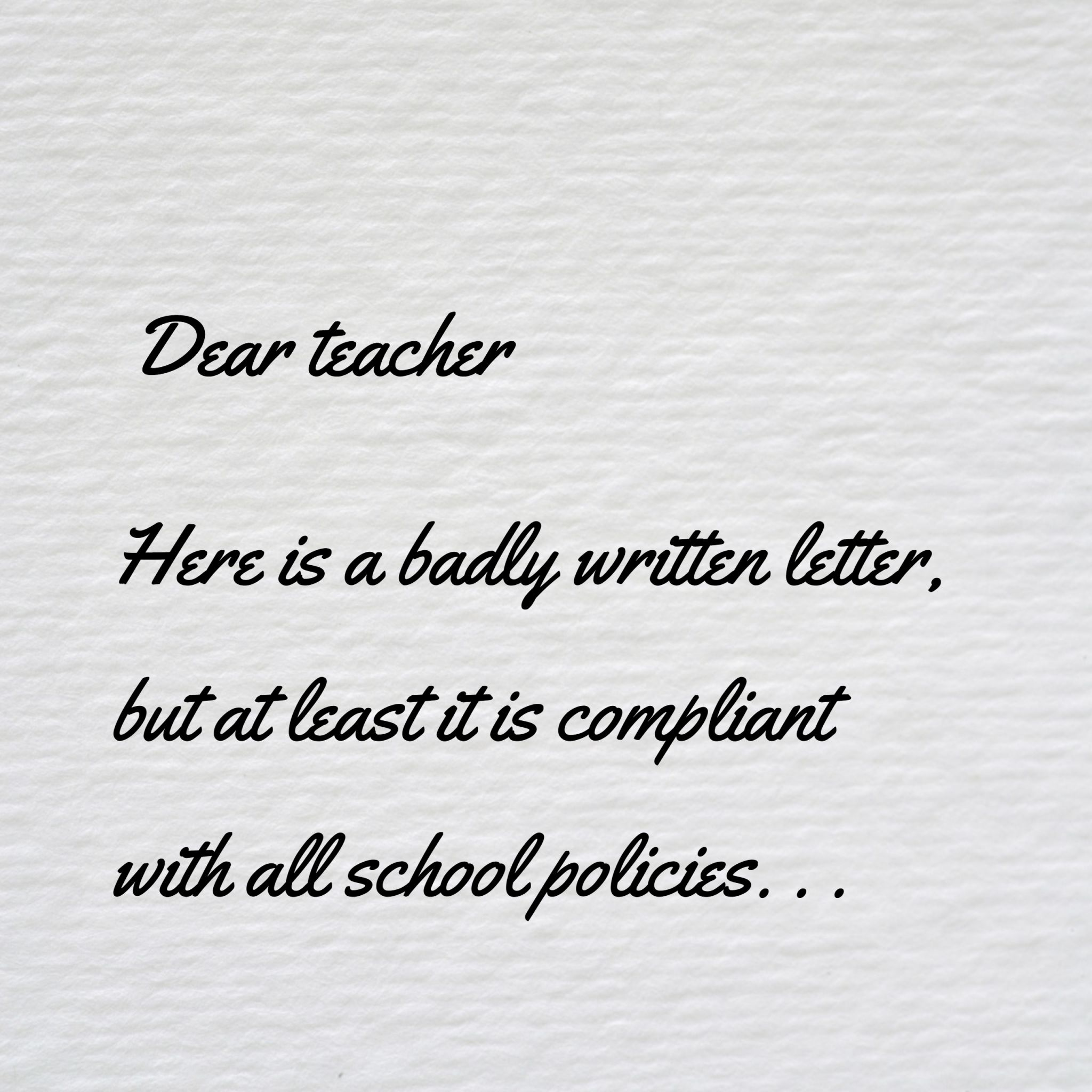 Writing a letter to teacher