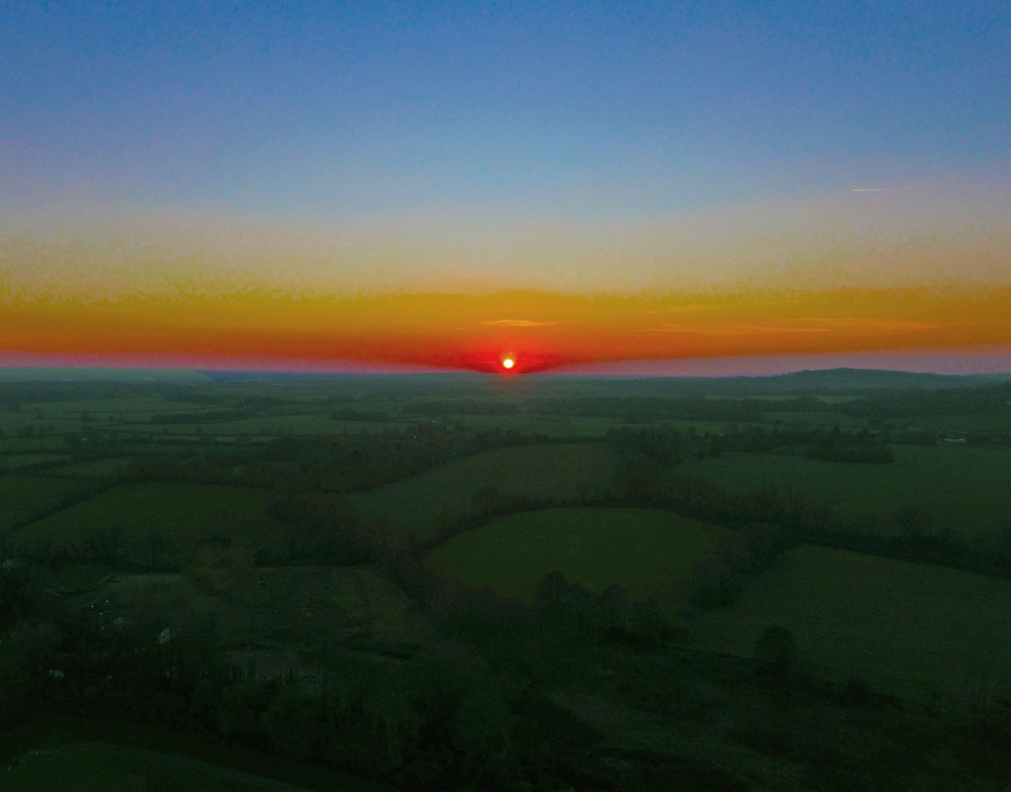 Sunset over the Weald of Kent