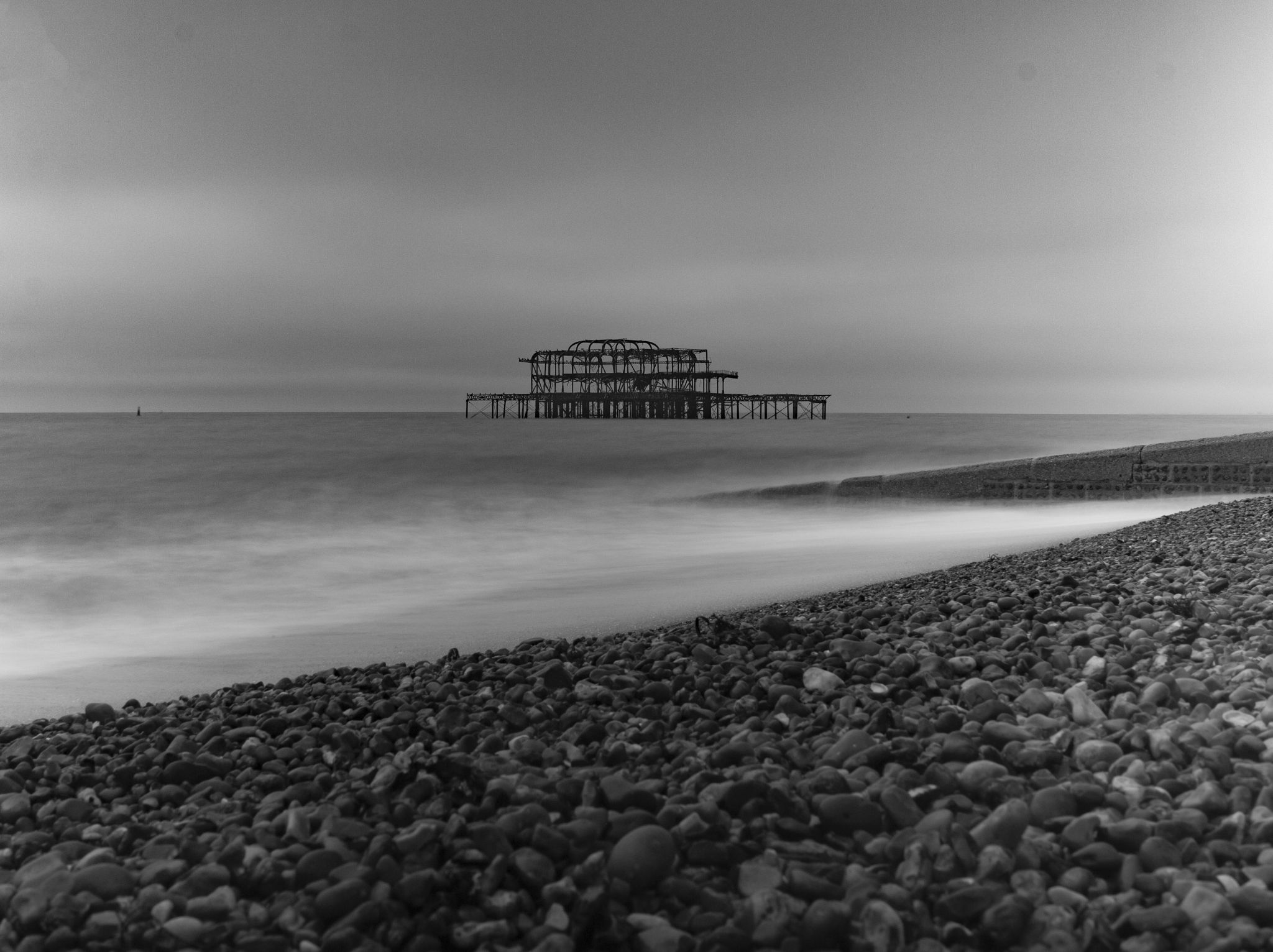 Brighton's West Pier: One photo, two edits