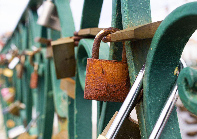 Tavira, Portugal, Ponte Romana, love padlocks, love locks