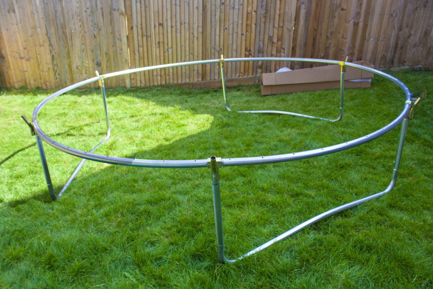 building a trampoline, constructing a trampoline, trampoline
