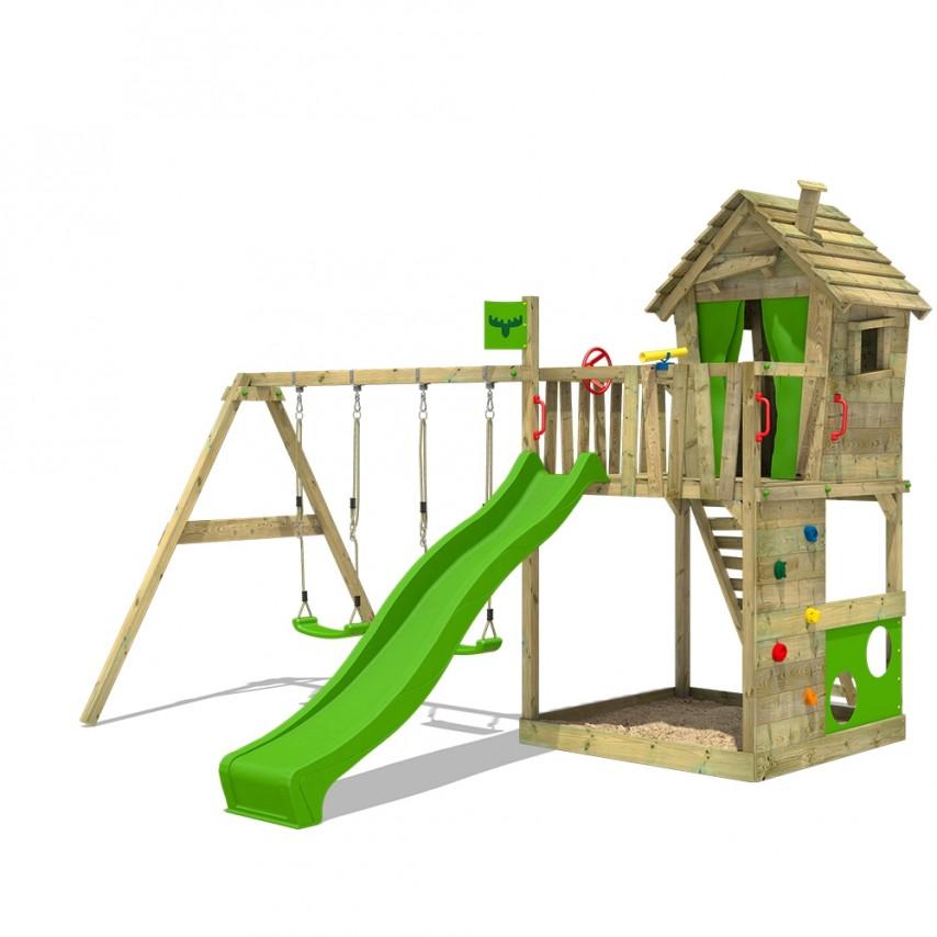 Fatmoose, wooden climbing frame, climbing frame, outside play