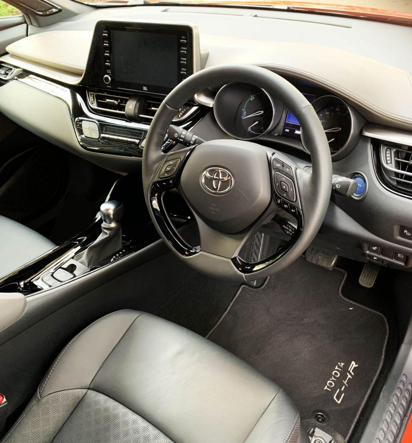 Toyota C-HR interior, Toyota C-HR Orange Edition, UK dad blog, dad blog