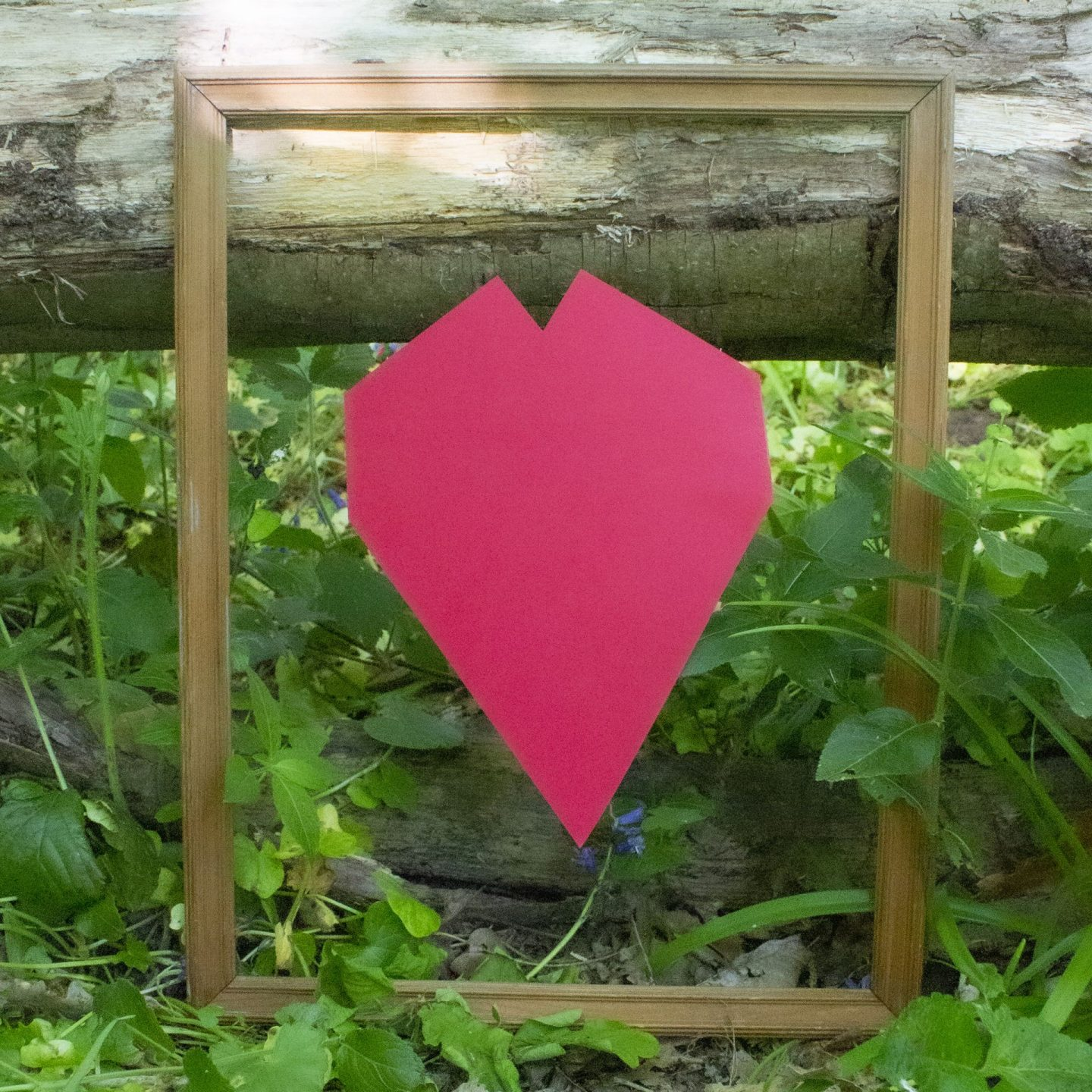 Framed picture of a cardboard heart, #SpreadFactsNotFear, IFRC, Spread Facts Not fear, International Federation of the Red Cross and Crescent,