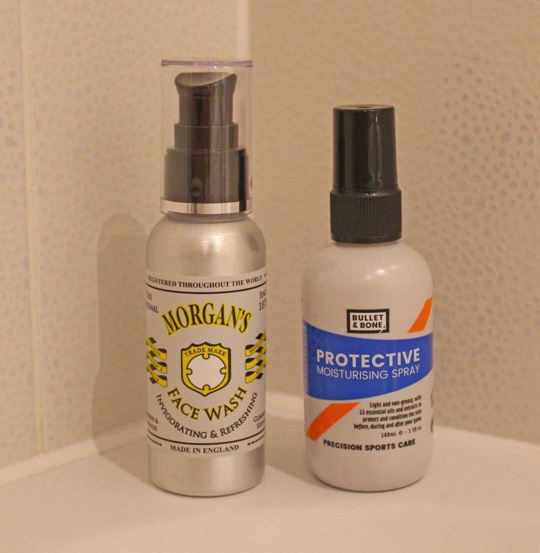 Morgan's pomade face wash, Bullet and bone protective moisturing spray, uk dad blogger, uk dad blog