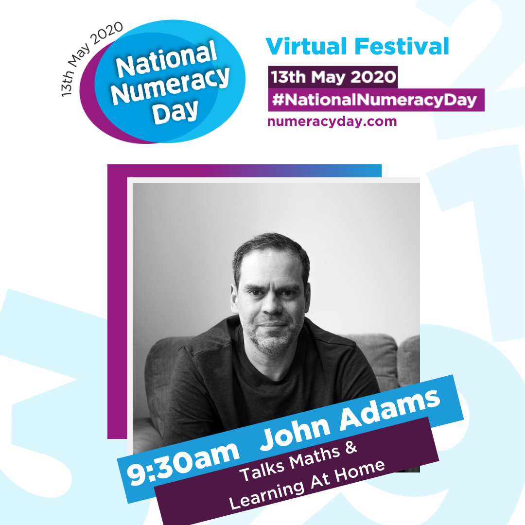 National numeracy, National Numeracy Day, National numeracy Day 2020, John Adams of Dadbloguk