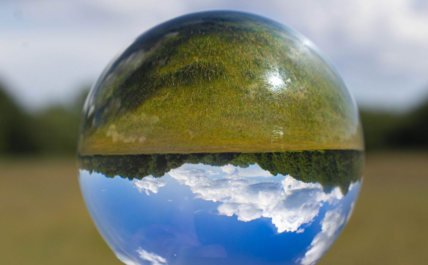 Landscape image taken with a Lensball