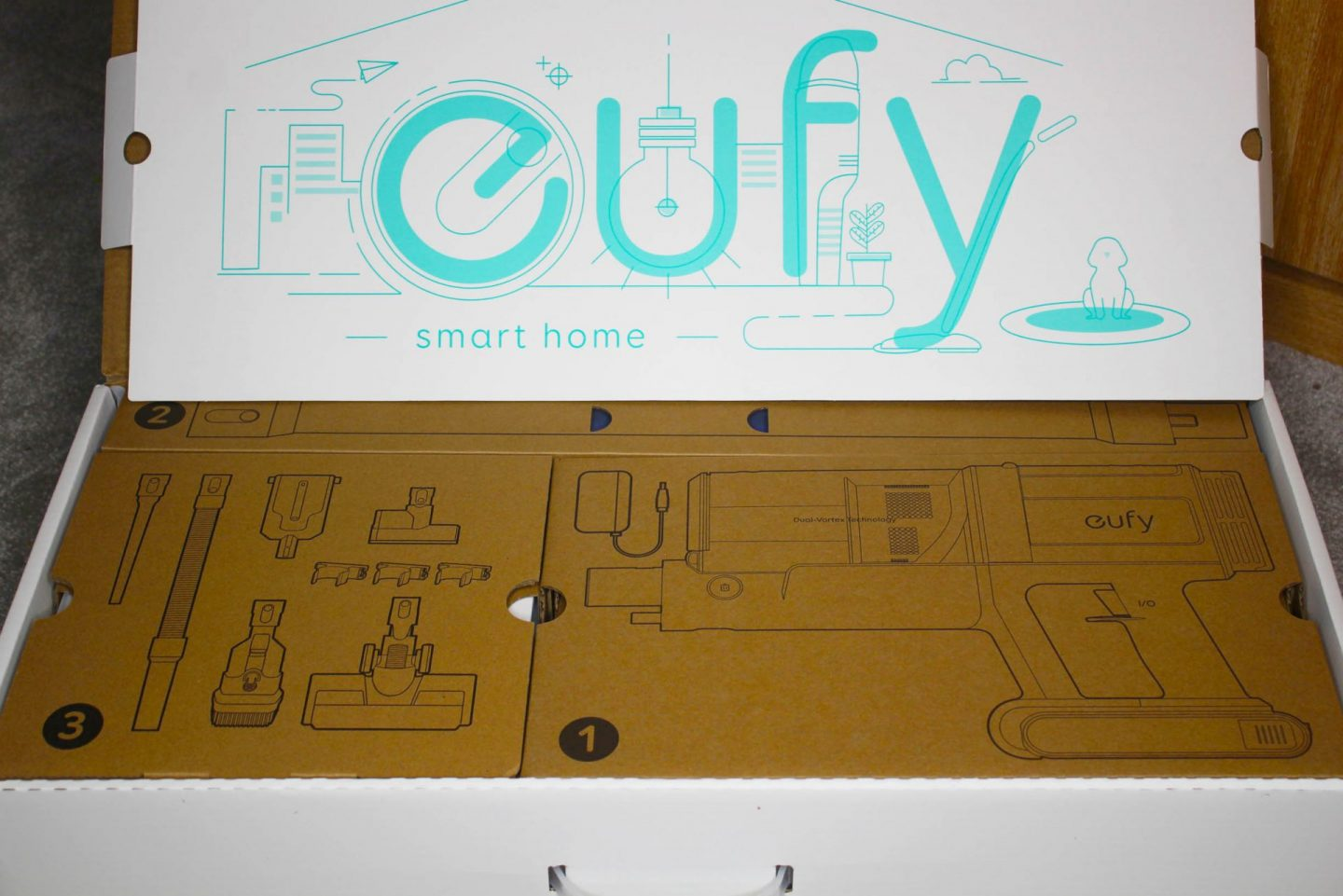 Eufy HomeVac S11 packaging