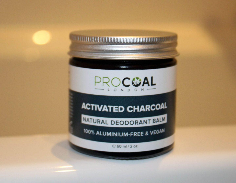 Procoal charcoal natural deodorant.