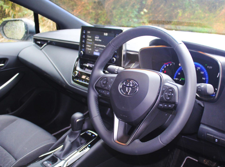 Driver's area of Toyota Corolla