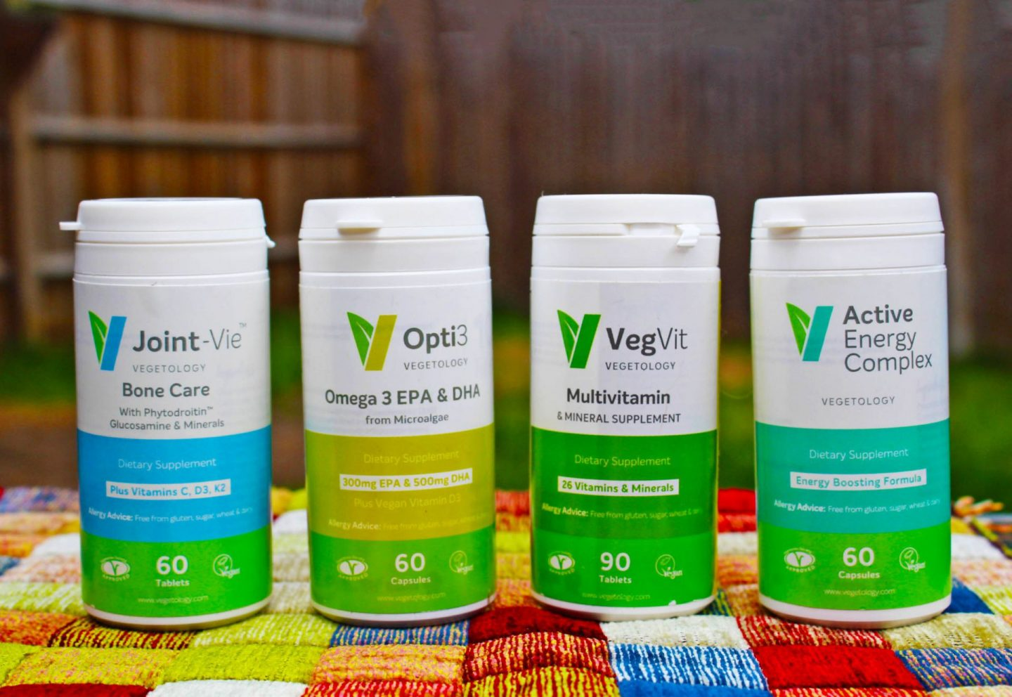 Range of health supplements from Vegetology