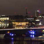 The Ladies' Bridge at night