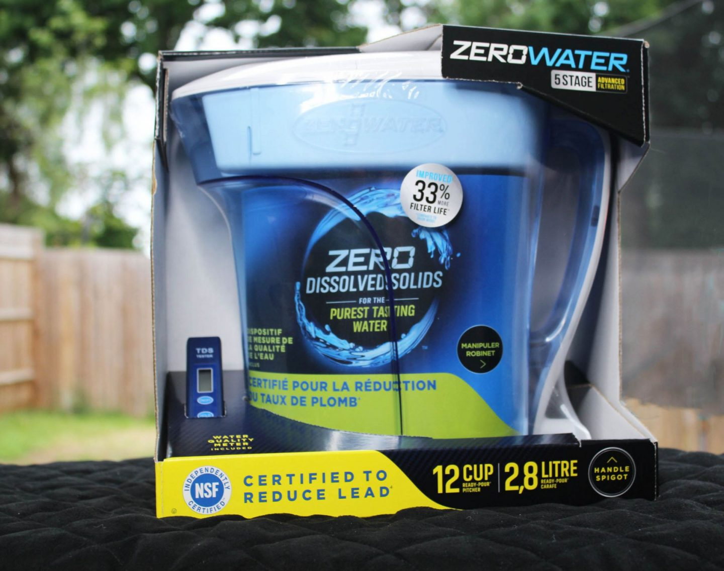 Zerowater jug in its box.
