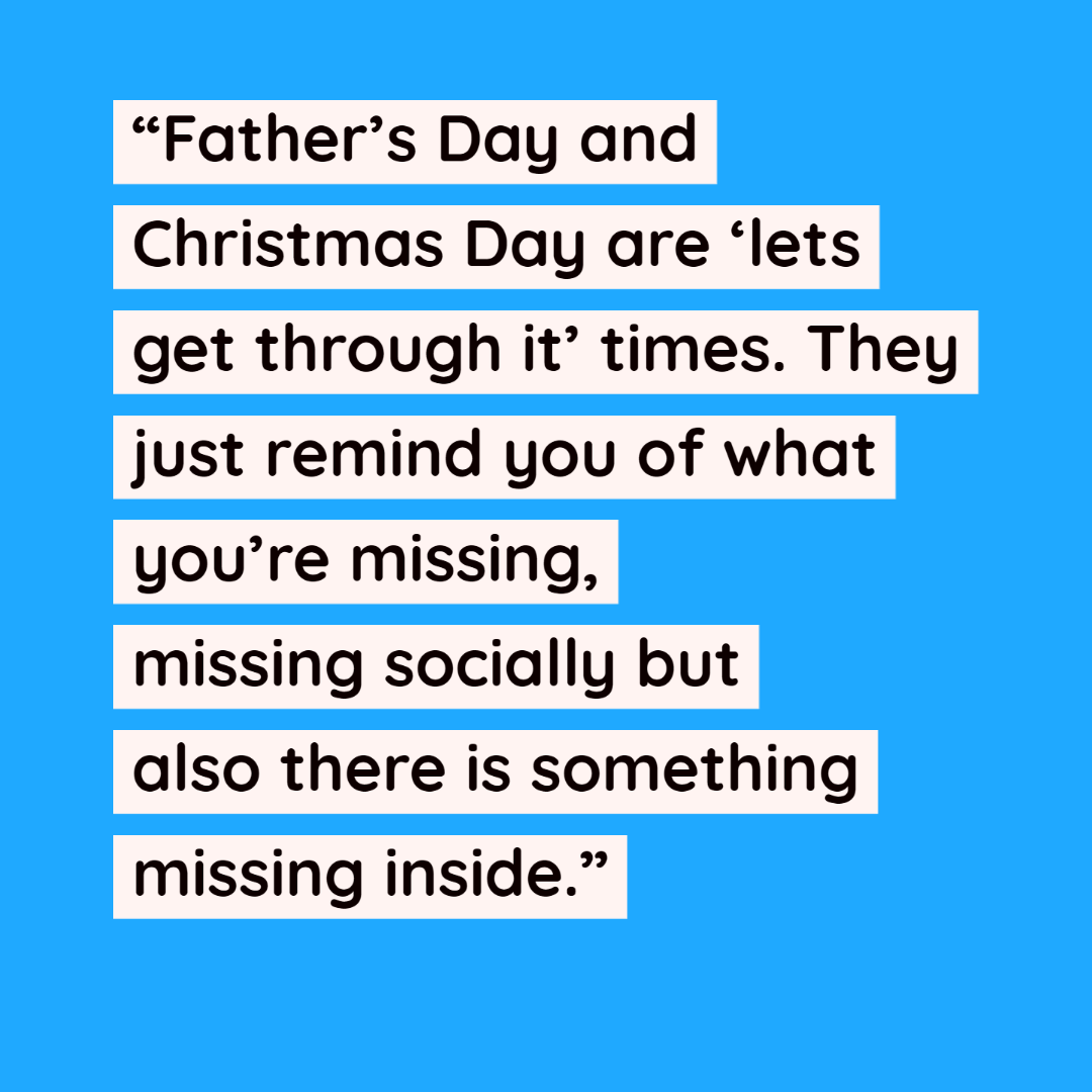 Quote about involuntarily childless men from Dr Robin Hadley.