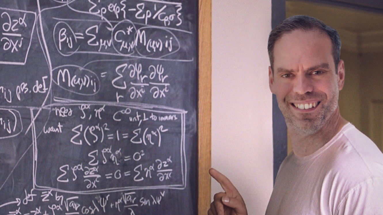 John Adams of Dadbloguk who is studying for GCSE maths pretending to be mathematician John Nash