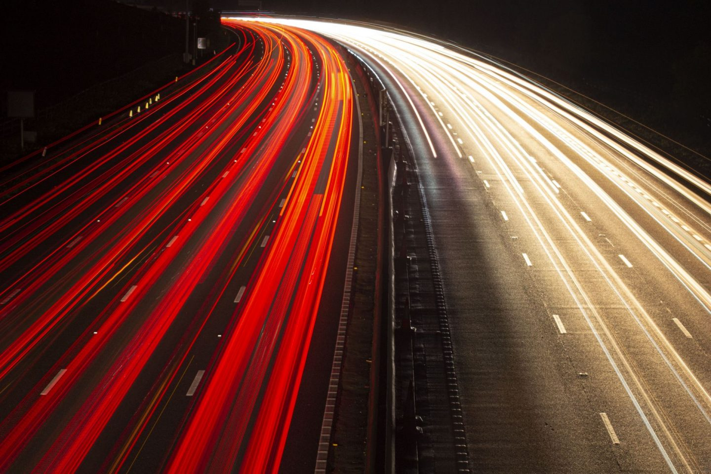 long exposure image of the M25