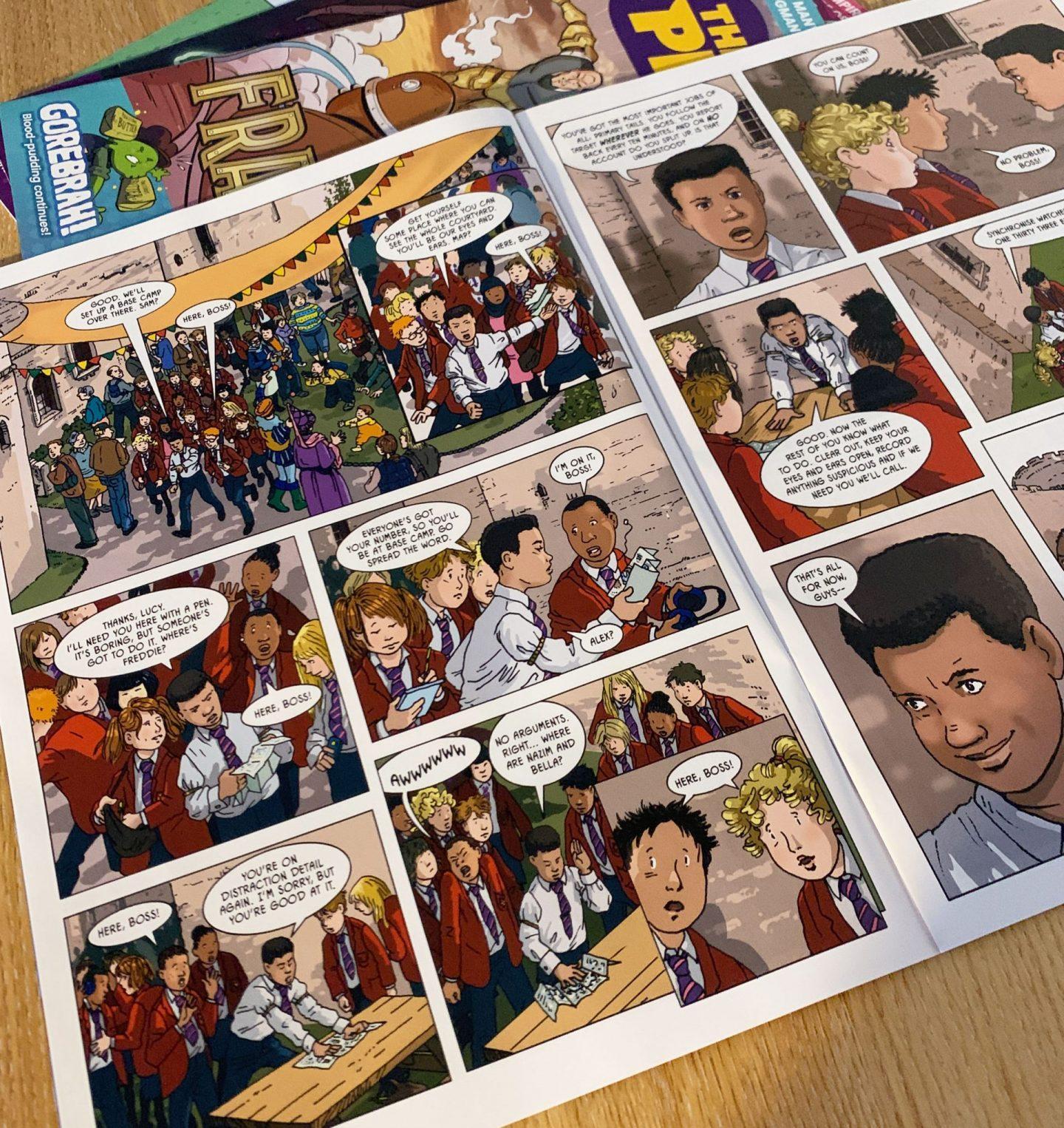 Illustration in Phoenix comic