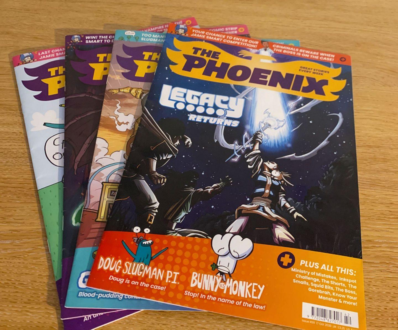 Selection of Phoenix comics.