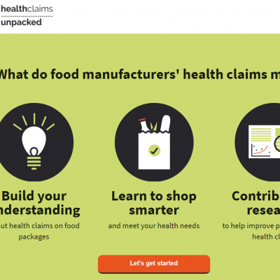 Health Claims Unpacked: Have your say on food labelling #AD
