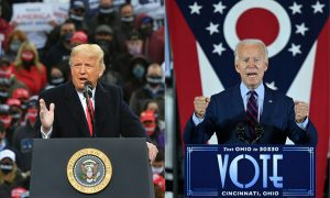 Picture of Donald Trump and Joe Biden, two men espousing two very different forms of masculinity
