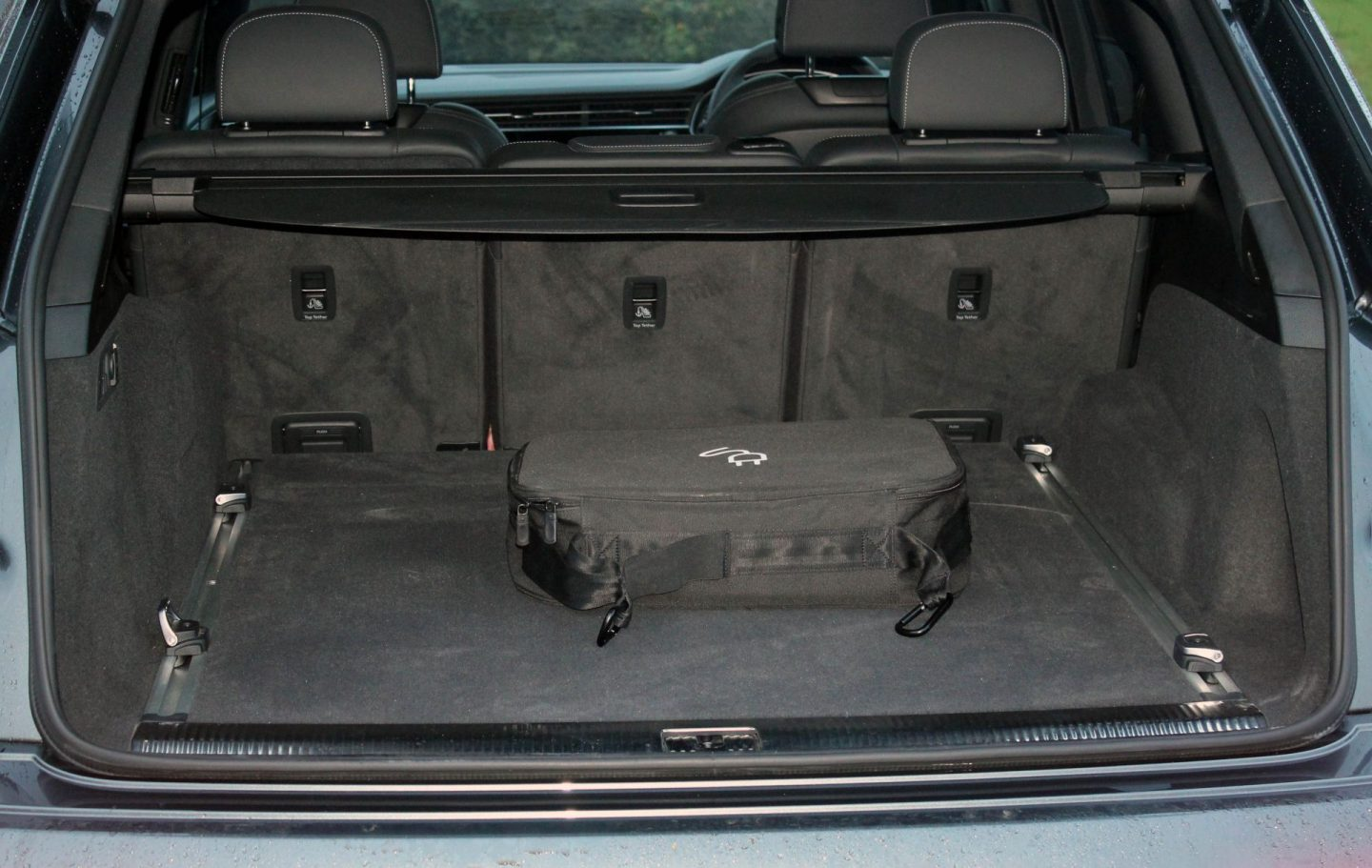 Open boot of a large SUV