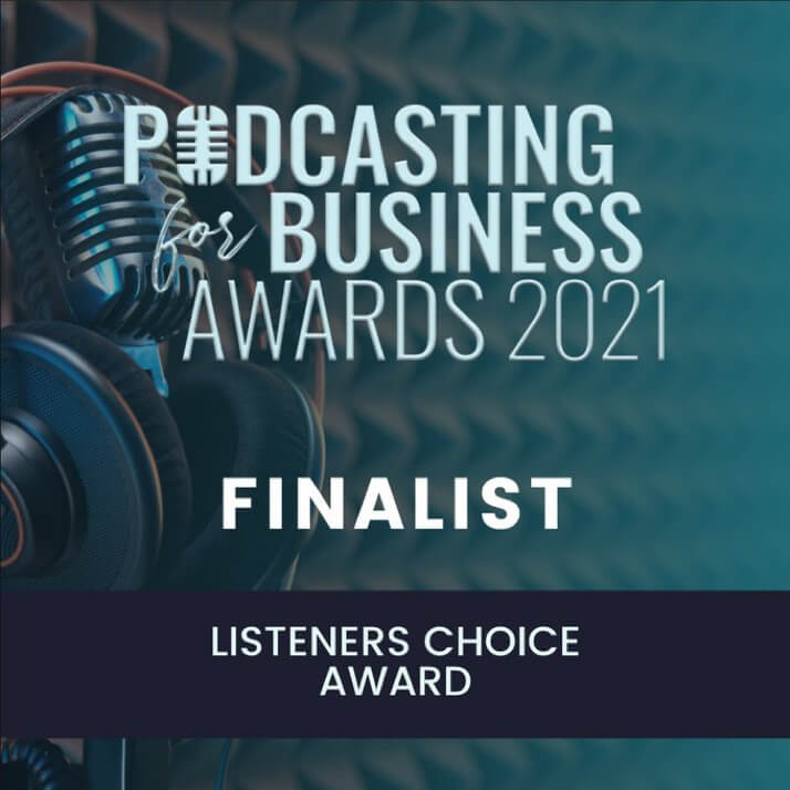Podcasting For Business Awards logo and badge