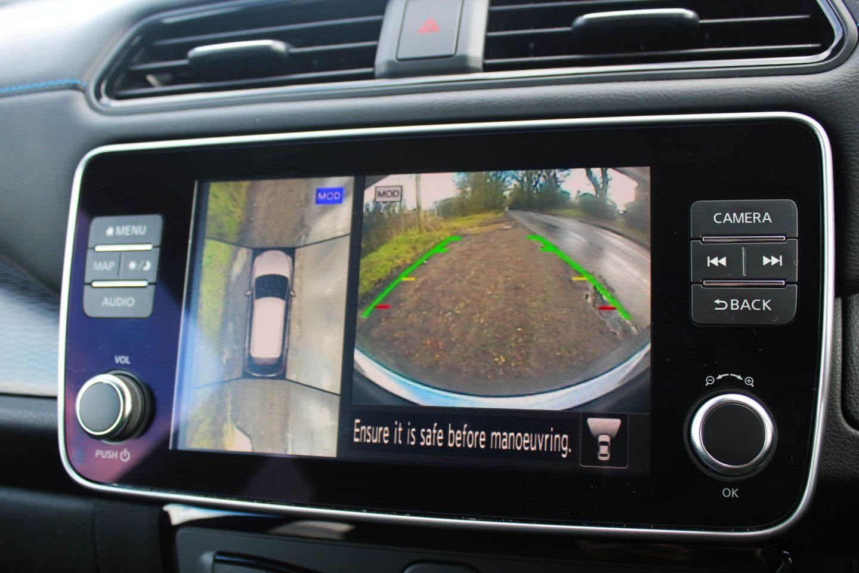 Parking camera view on Nissan Leaf.