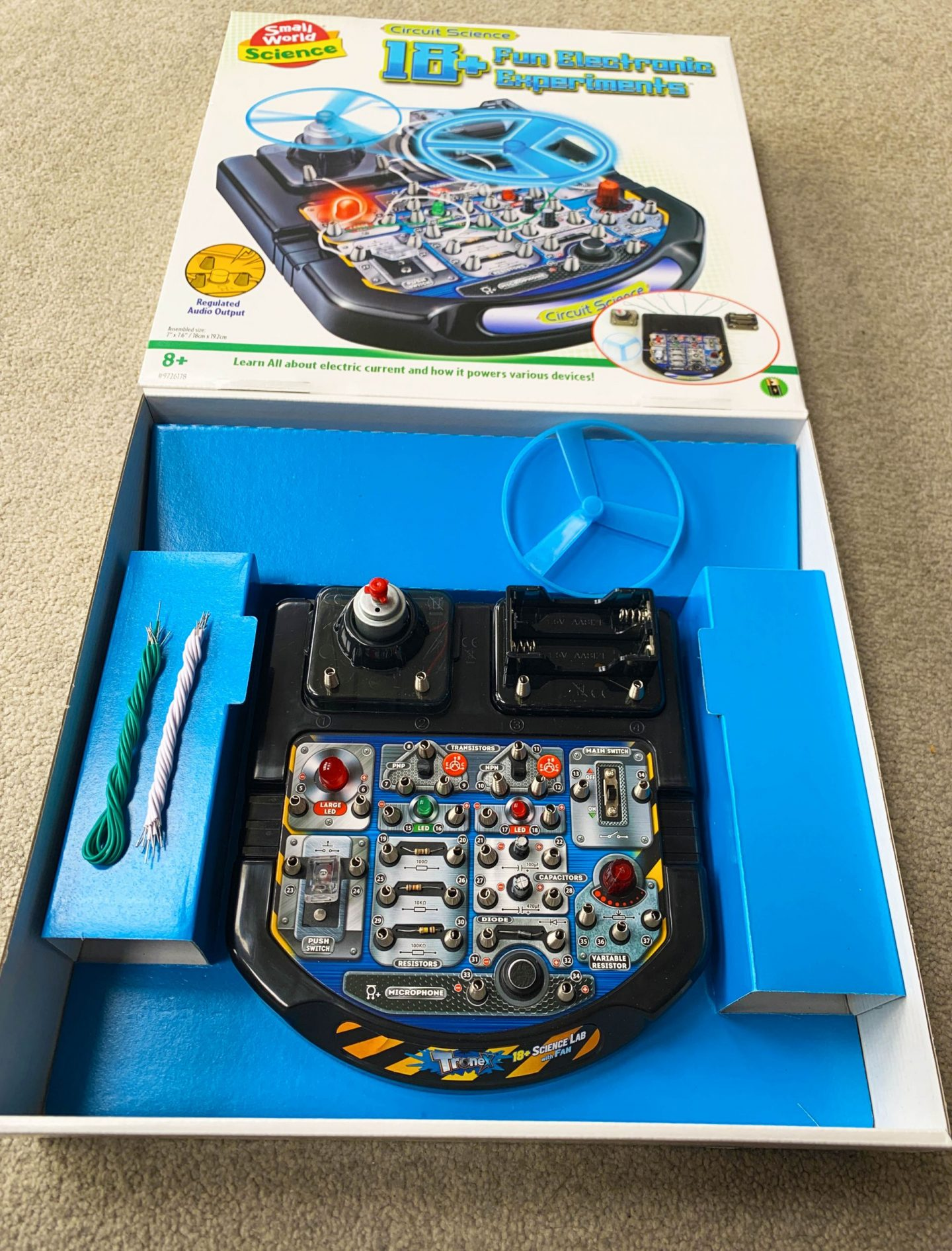 Small World Science electric circuit toy in box