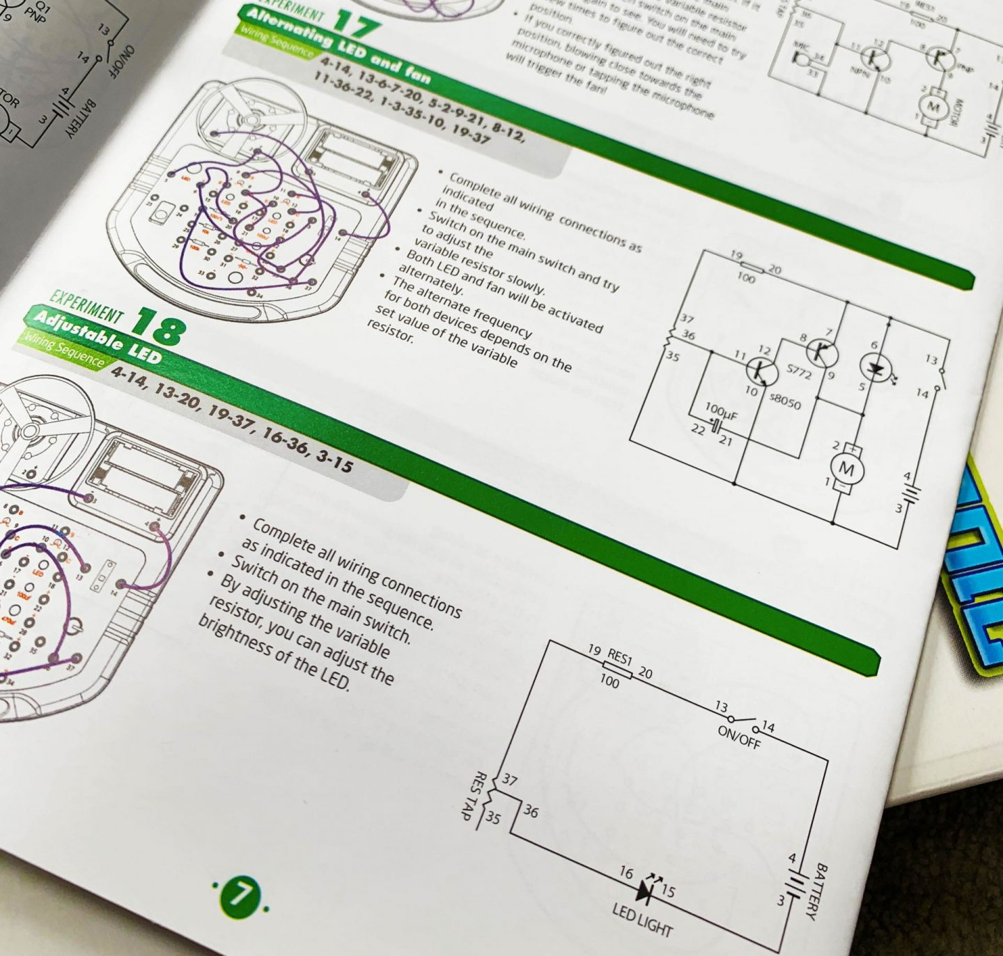 Printed instructions for Small World Science toy from Toys and Bears