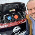 Ice, snow & the Nissan Leaf #AD