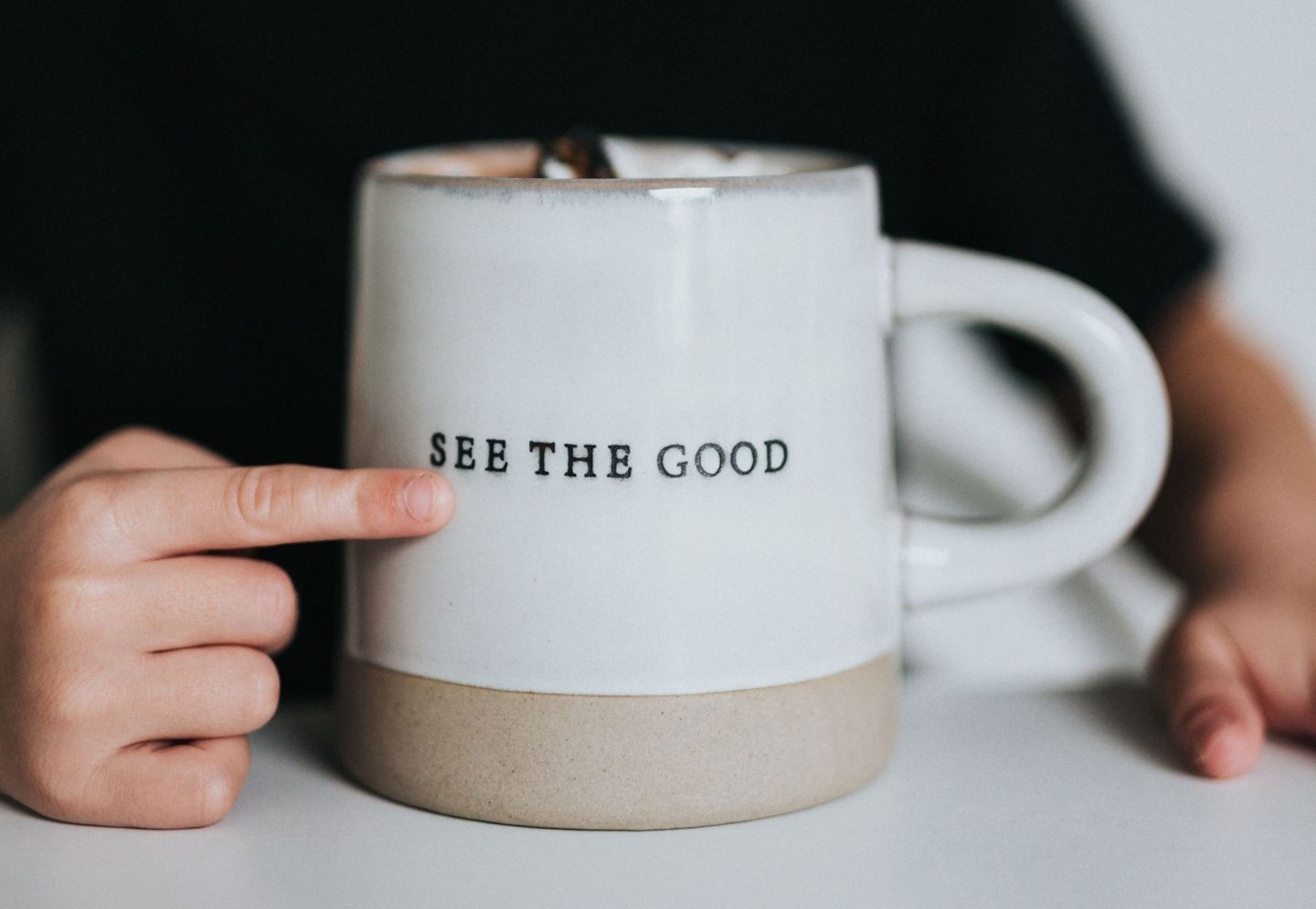 Tell your kids they're amazing. Positive message printed on a mug.
