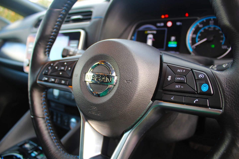 Nissan Leaf interior.