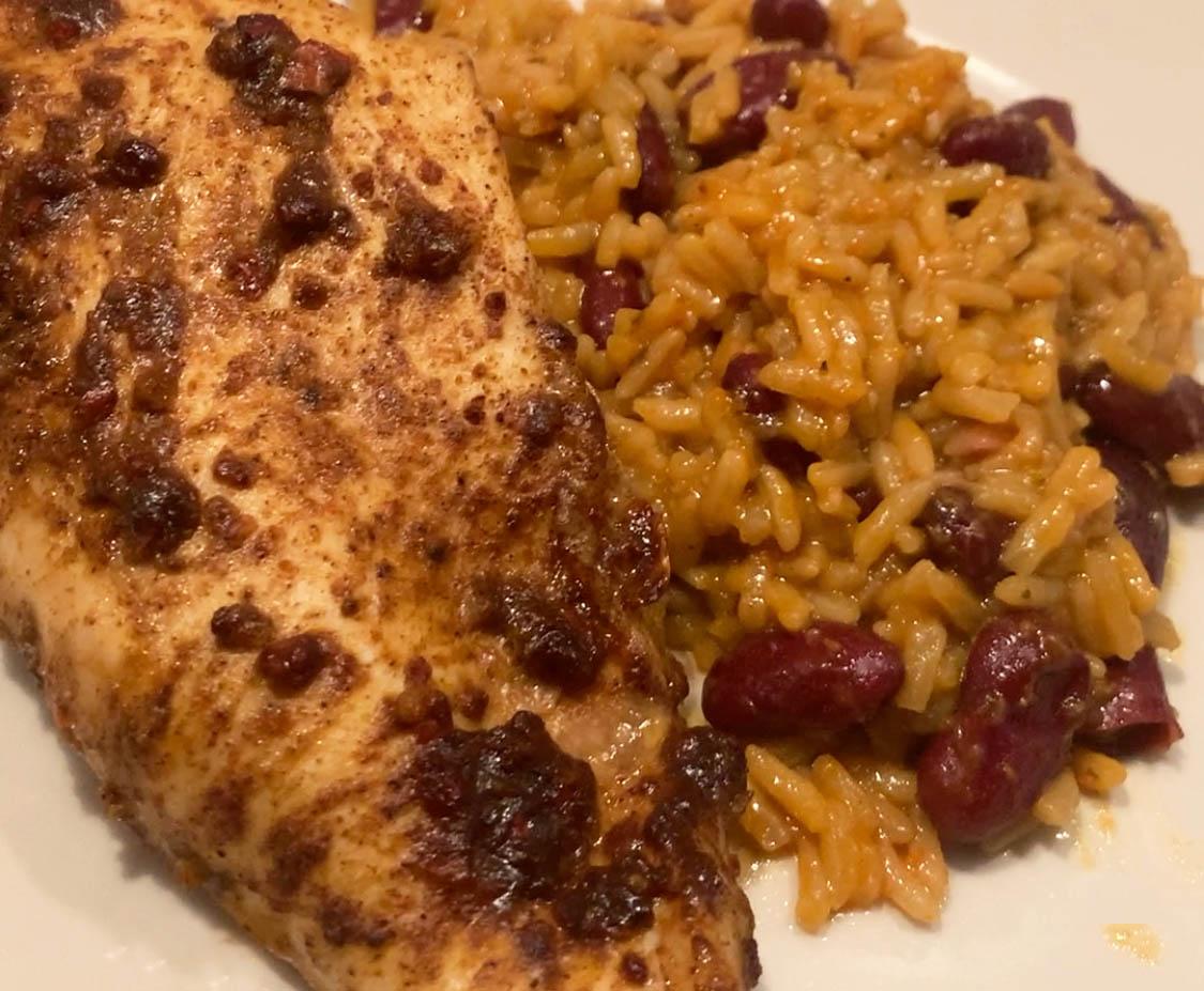 Jerk chicken made using SimplyCook recipe